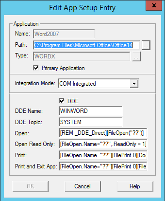 iManage DDE Configuration